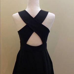 Forever 21 cross back v-neck pocket zip dress